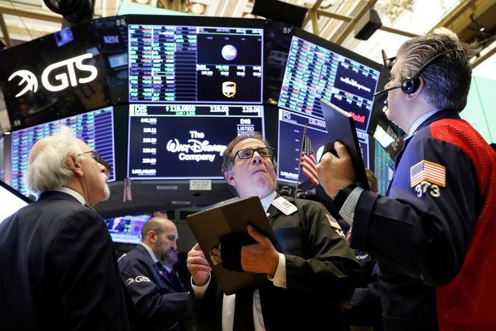 Ruhe vor dem Sturm: New Yorker Börsenhändler im März 2020