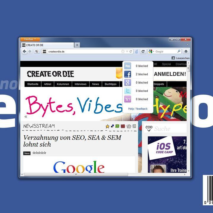 Dem sozialen Netzwerk das Schnüffeln austreiben: Facebook Disconnect