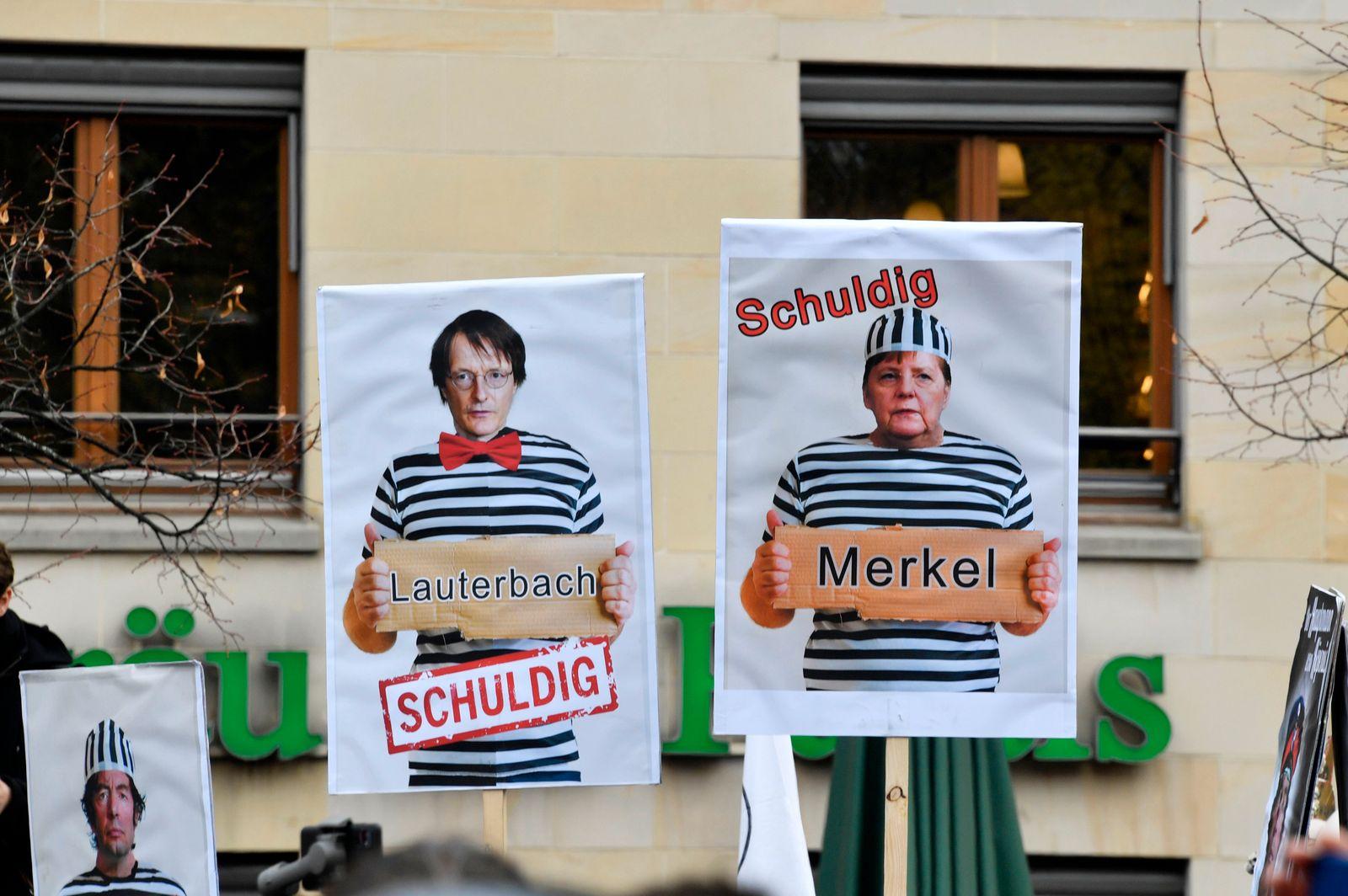 Protest gegen die Corona-Maßnahmen in Berlin