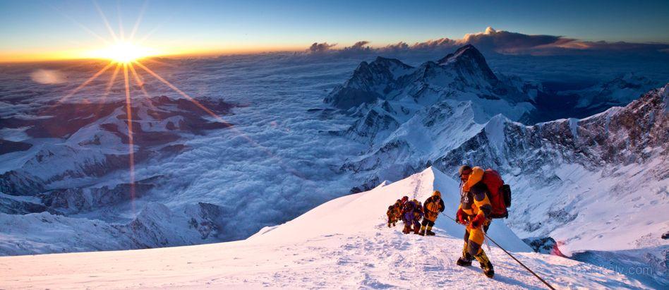 Blick vom Everest über den Himalaya