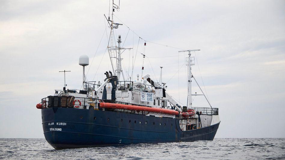 Das Rettungsschiff «Alan Kurdi» in den Gewässern vor Libyen