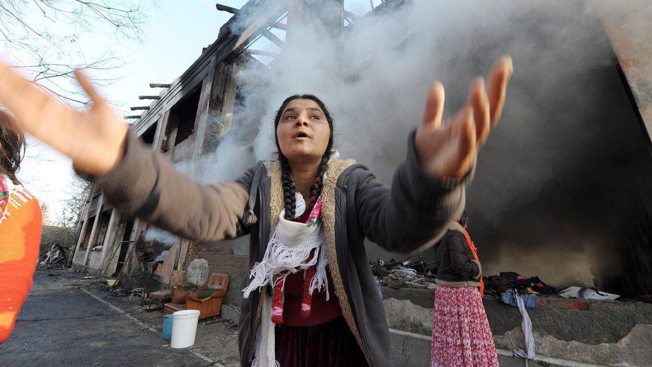Turin: Brandruinen im Roma-Lager