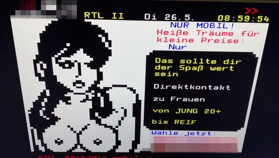 """Werbetafel aus dem RTL-II-Videotext: """"Jung"""" beginnt meist bei 20 Jahren - warum, erfahren Sie im Text. Weitere Bildbeispiele finden Sie in unserer Fotostrecke"""