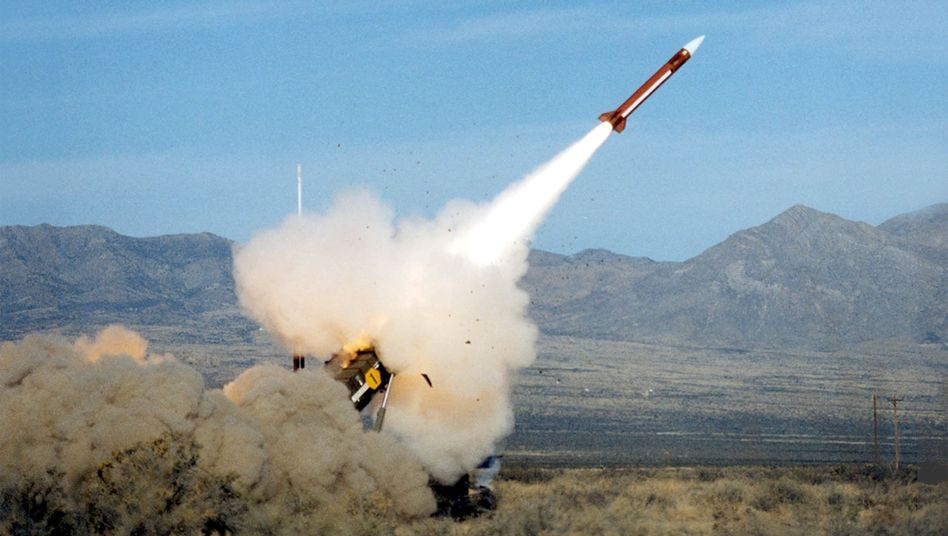 A Patriot missile being test-fired. Turkey has asked for the missile system from NATO to protect its border with Syria.