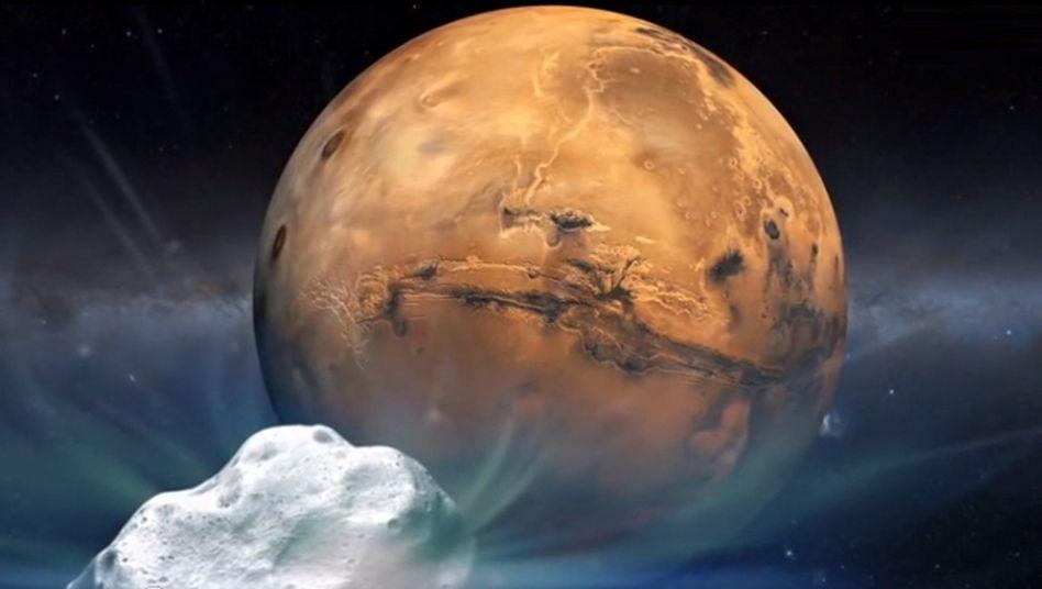 Beinahe-Crash: Komet schrammt knappam Mars vorbei
