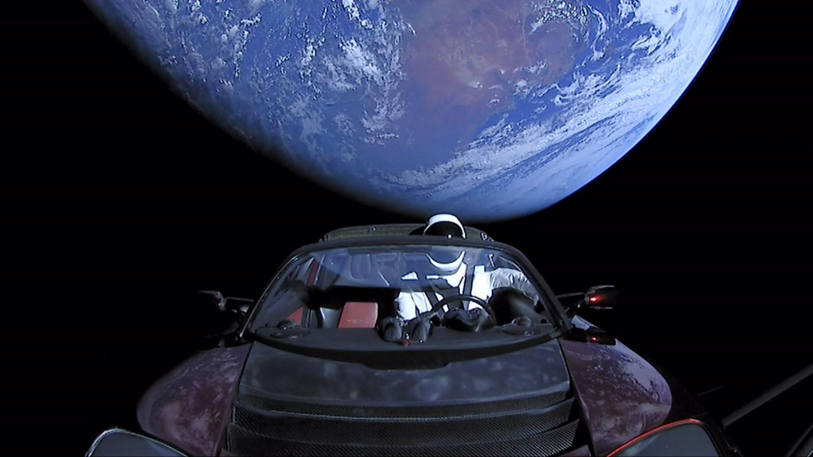 SpaceX/ Tesla Roadster/ Elon Musk