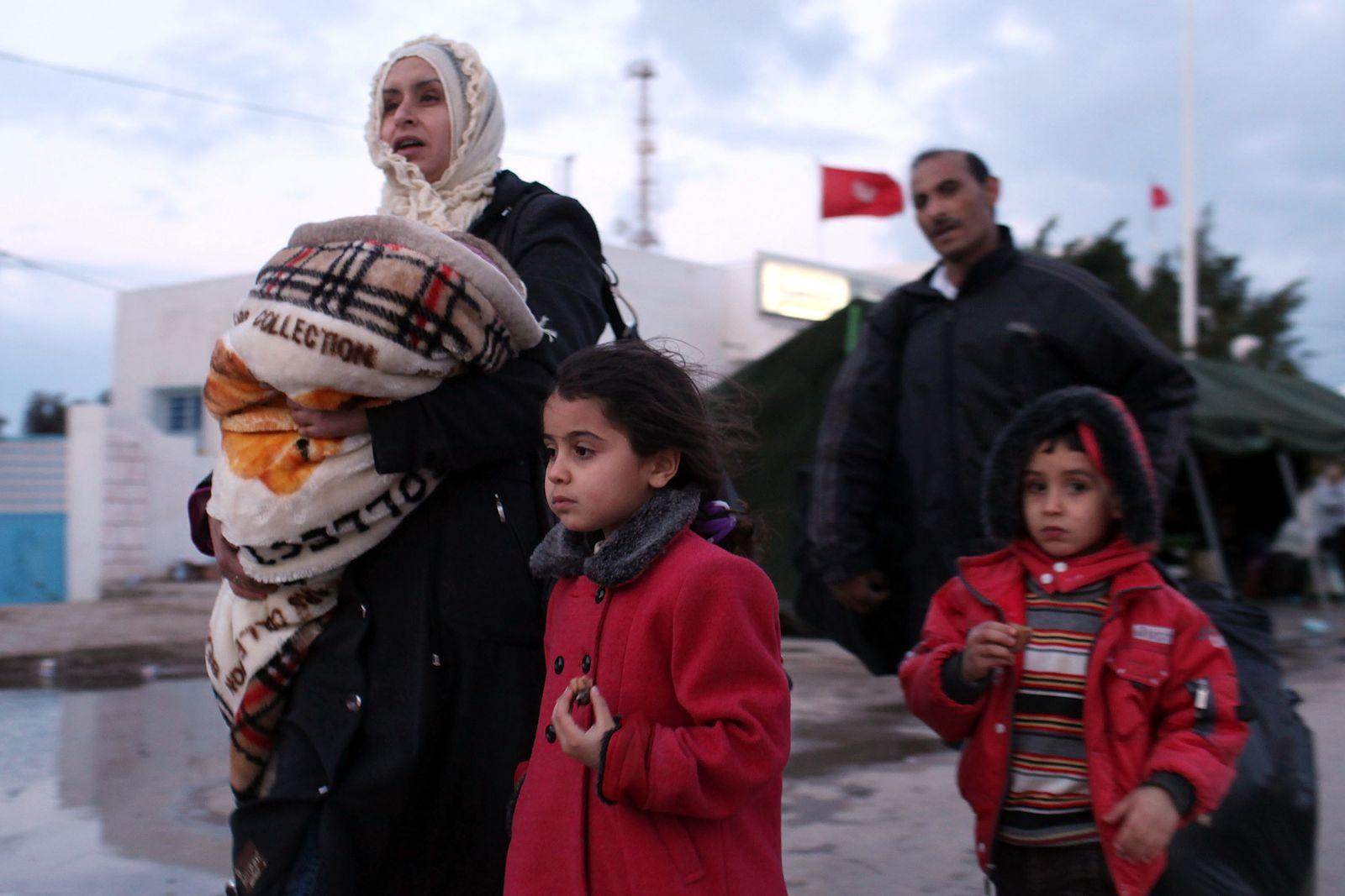 Libyen/ Grenze Tunesien