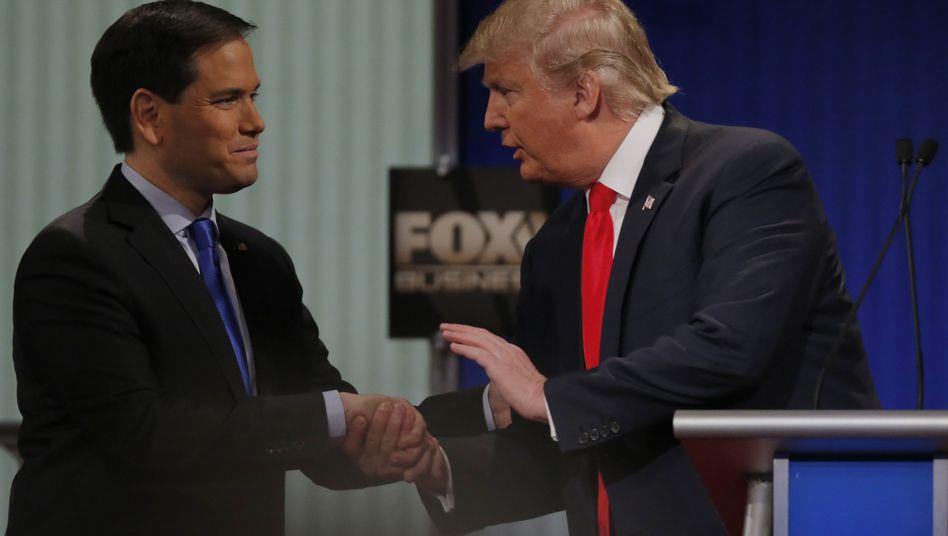 Republikaner Marco Rubio (links), Donald Trump