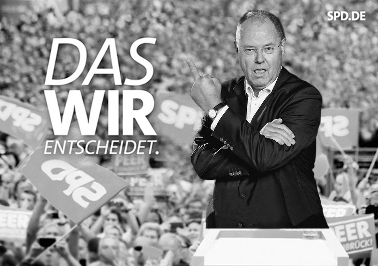 NUR ALS ZITAT Peer Steinbrück / Mittelfinger / Tumblr