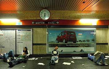 Übernachtung in der U-Bahnstation: Rom