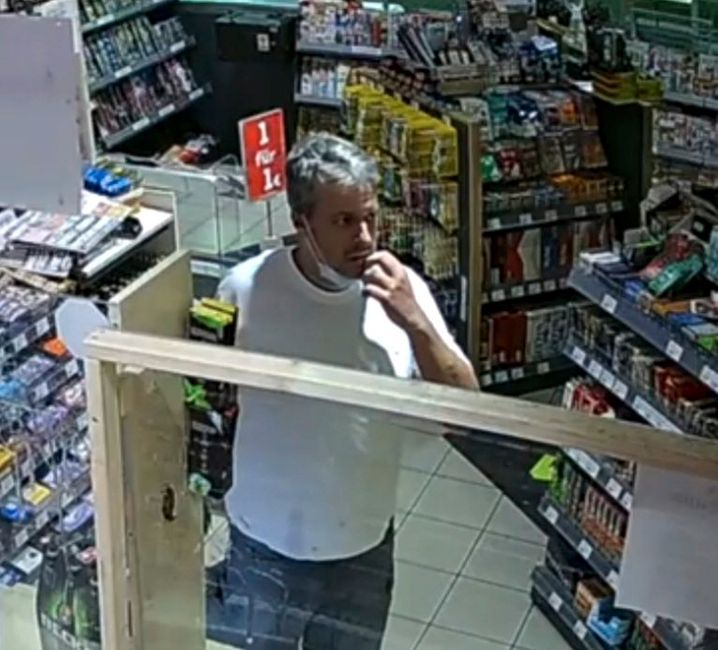 An image of murder suspect Mario N. from a security camera at the Aral gas station in Idar-Oberstein