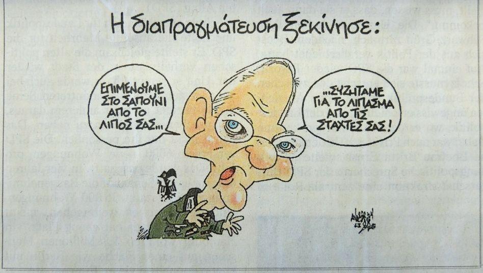 """Schäuble-Karikatur in Syriza-Zeitung: """"Der Autor sollte sich schämen"""""""