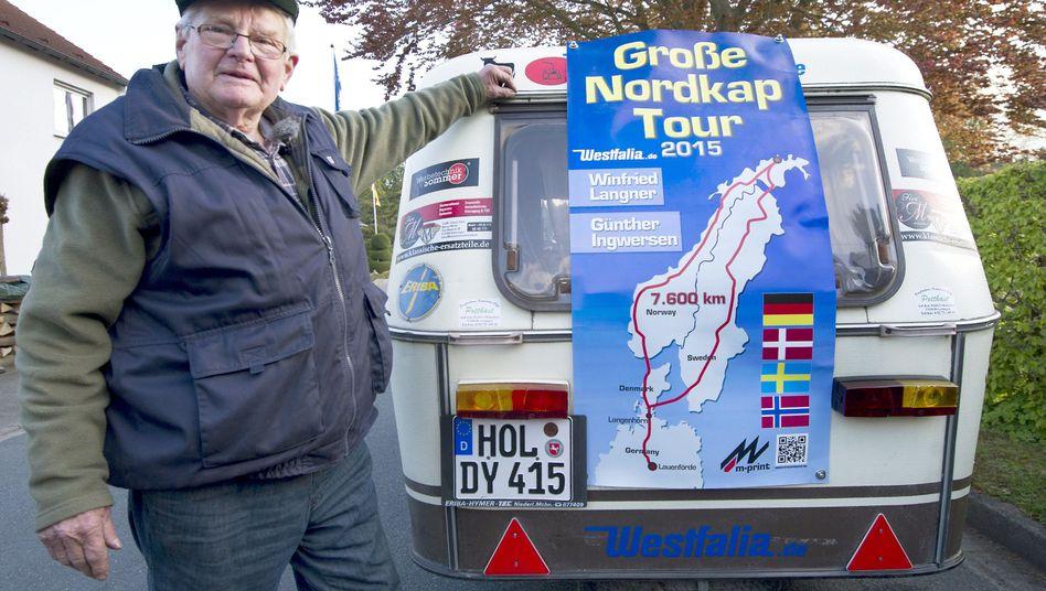 Winfried Langner: Nach 8000 Kilometern wieder in Niedersachsen (Archivbild)