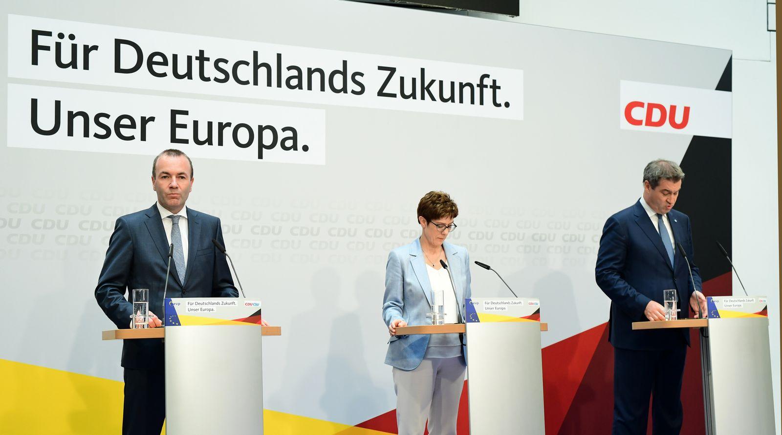 Europawahl/ CDU/ AKK/ Söder