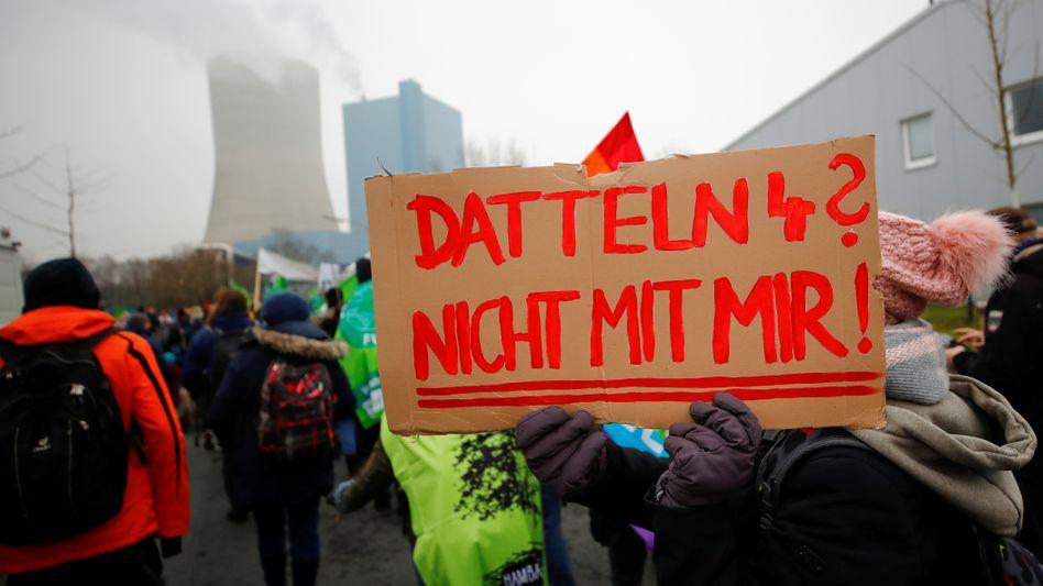 Protestierende in Datteln