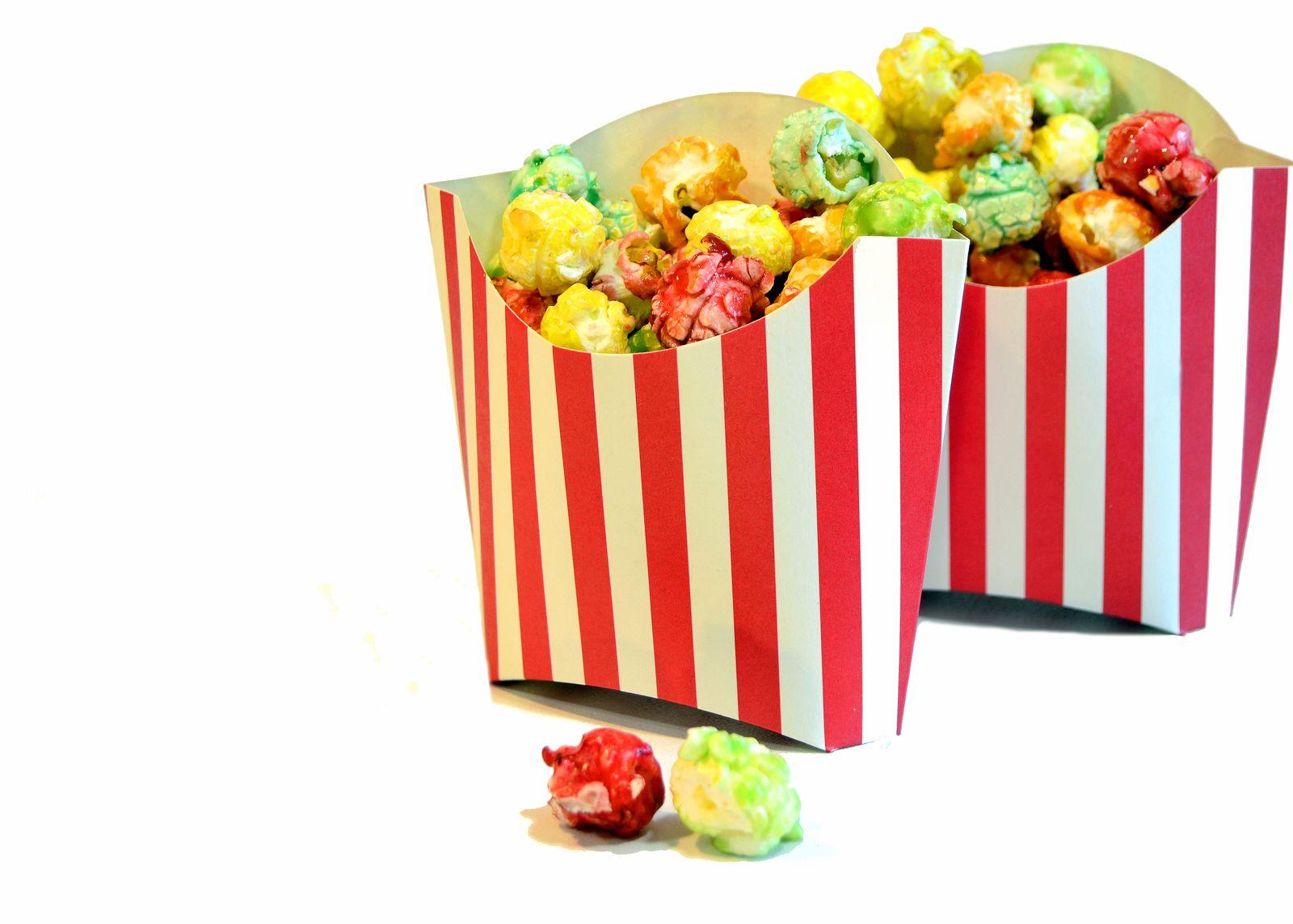 Colorful popcorn