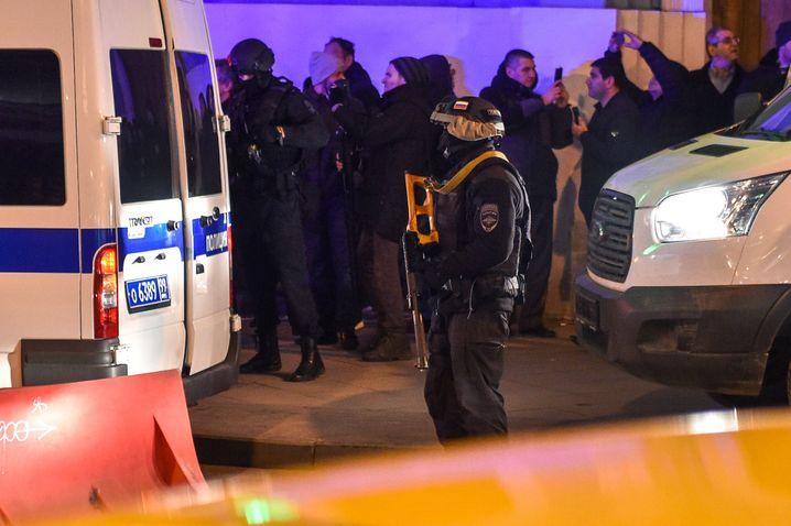 Polizeieinsatz in Moskau
