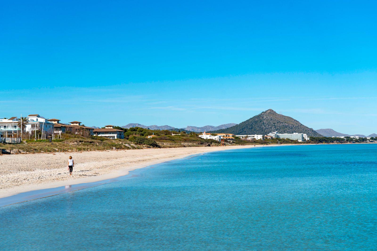 Bucht von Alcudia, Platja de Muro, Strand von Muro, Mallorca, Balearen, Spanien, Mallorca *** Bay of Alcudia, Platja de