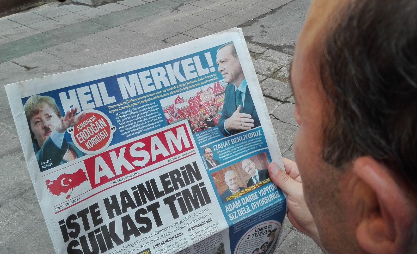 Merkel/ Türkische Zeitung