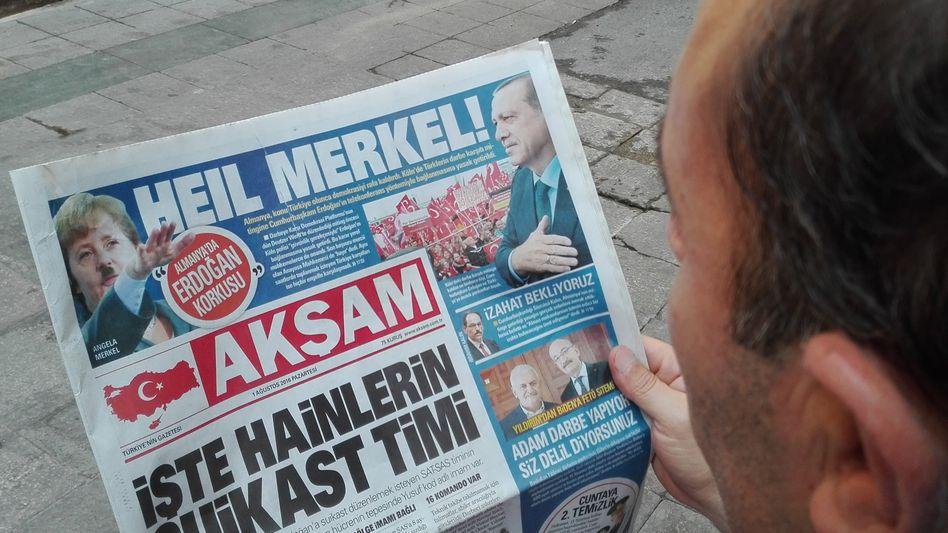 """Titel der Zeitung """"Aksam"""""""