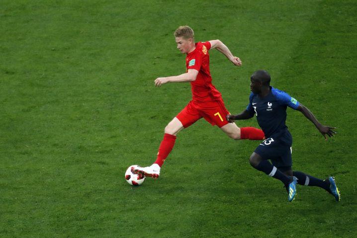 Kanté verfolgt Belgiens Kevin De Bruyne
