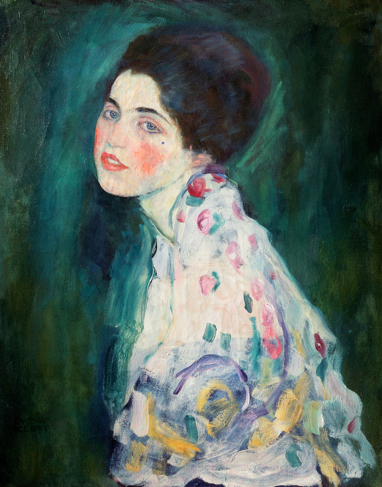 NICHT MEHR VERWENDEN! - Gustav Klim - Half-Figure of a Woman