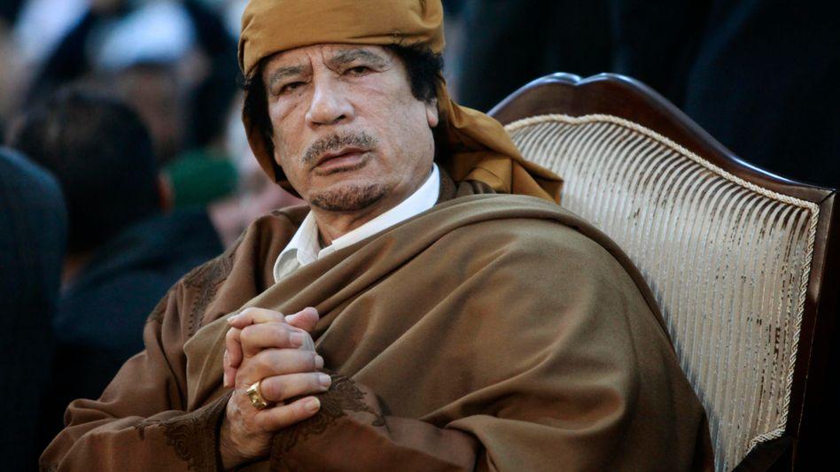 """Libyens Ex-Diktator Gaddafi: """"Wir werden das Land unserer Ahnen nicht verlassen"""""""