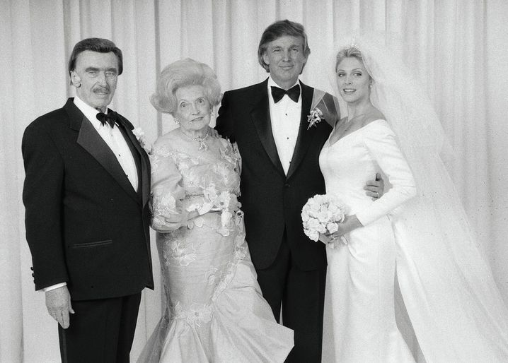 "Donald Trump with his parents Fred and Mary together with his bride Marla in 1993: ""It is like a cult."""