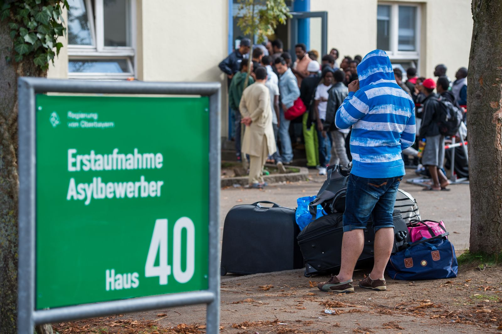Flüchtlinge in der Bayernkaserne