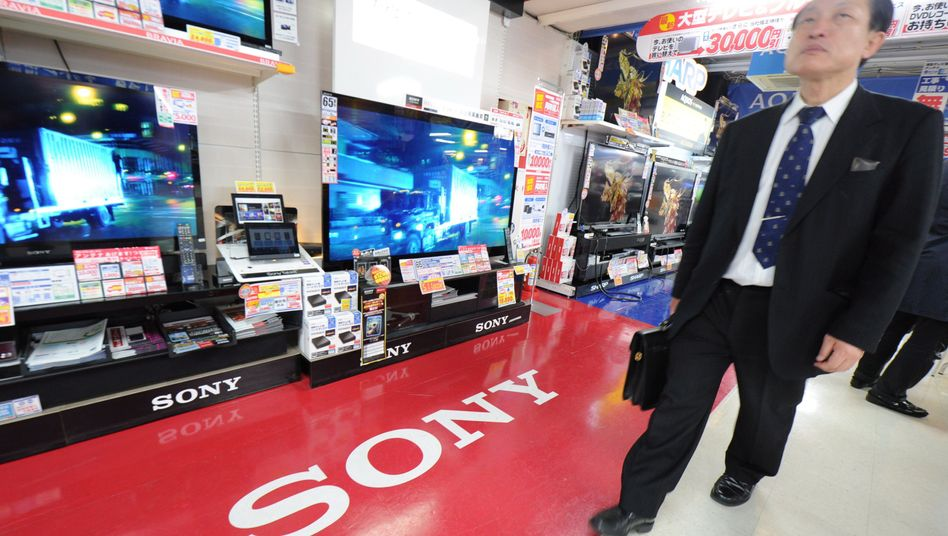 Sony-Geräte in japanischem Elektronikmarkt: Schlechte Geschäfte mit Fernsehern