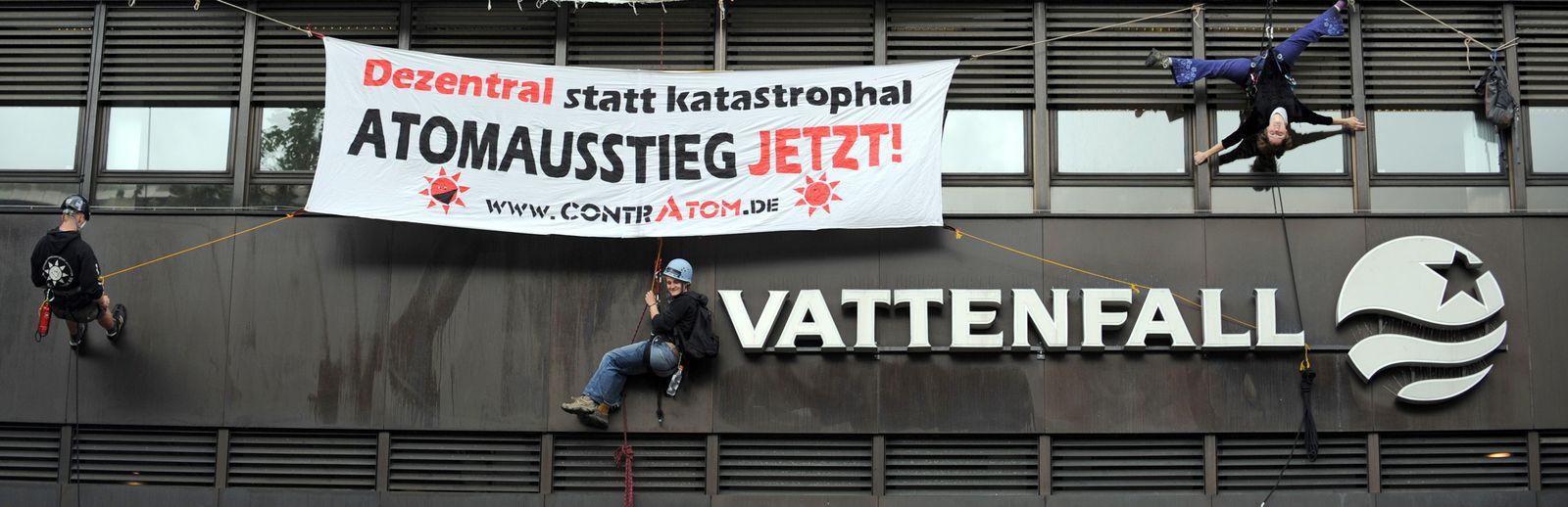 Protest gegen AKW Krümmel Vattenfall