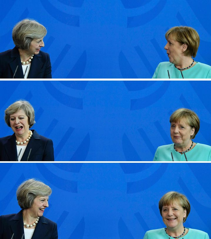 "May and Merkel in Berlin: ""The chancellor faces the tougher task. Her room for maneuver is narrowing."""
