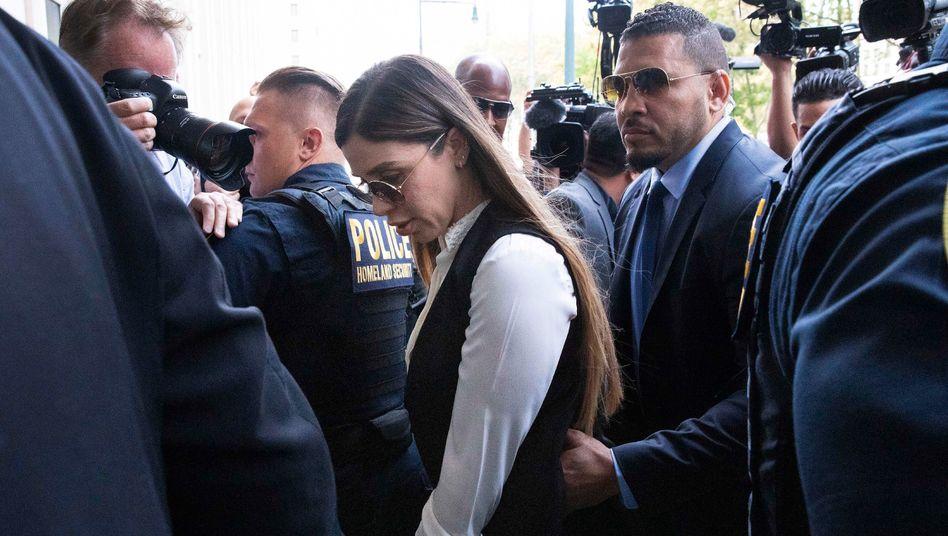 Emma Coronel Aispuro im Juli 2019, kurz vor der Verkündung des Strafmaßes für ihren Mann Joaquín »El Chapo« Guzmán