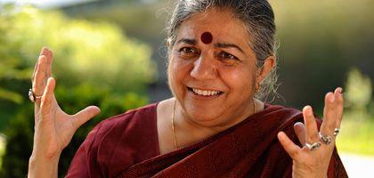 Vandana Shiva: Die Umweltaktivistin und alternative Nobelpreisträgerin zu Besuch beim 32. Deutschen Evangelischen Kirchentag in Bremen