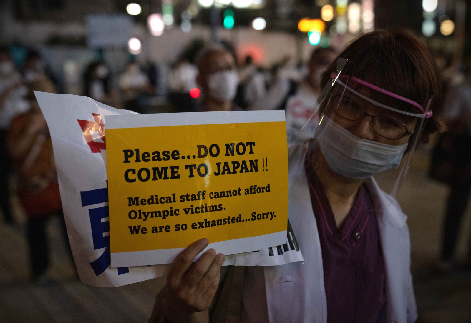 Anti-Olympics Protesters Rally In Tokyo