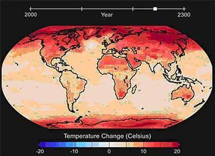 Erderwärmung im Modell: 20 Grad mehr an den Polen