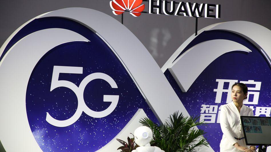 Huawei-Stand auf einer Tech-Messe