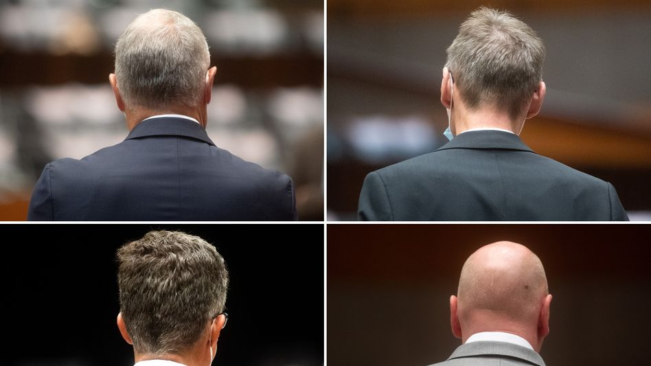 Die vier Angeklagten im Prozess in Braunschweig