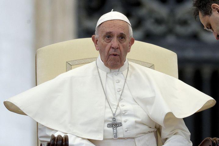 Papst Franziskus bei seiner wöchentlichen Audienz auf dem Petersplatz