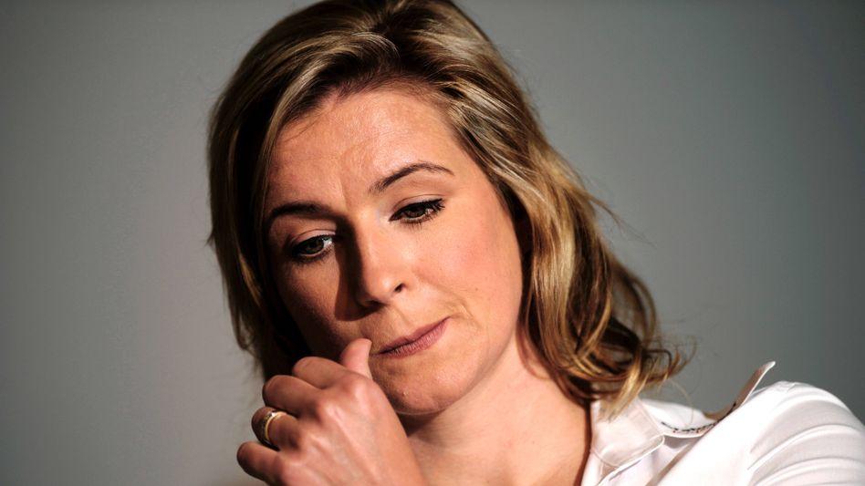 """Claudia Pechstein (auf einer Pressekonferenz im August): """"Würde niemals dopen"""""""