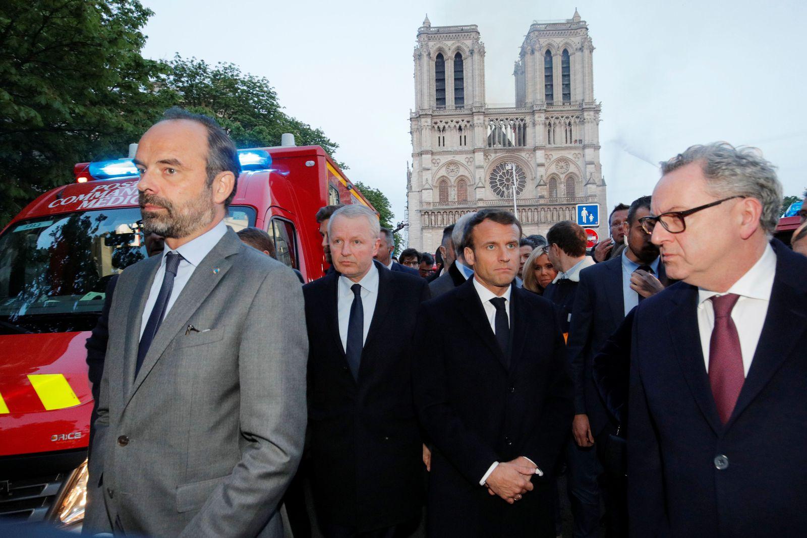 Macron bei der Notre Dame