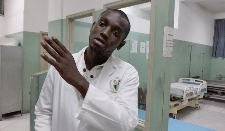 Dr. Djamson Mereste at the University Hospital in Port-au-Prince