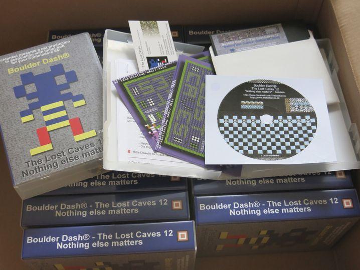 """Neuerscheinungen für historische Systeme wie """"The Lost Caves 12"""" für Commodore 64 werden häufig nur in Kleinauflagen von 30 bis 100 Stück produziert"""