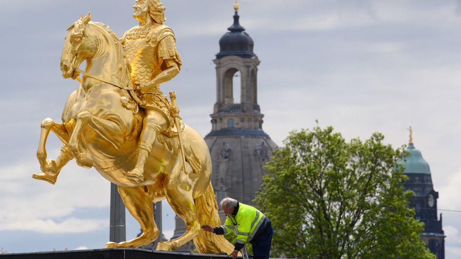 Schadensgutachter am Goldenen Reiter in Dresden