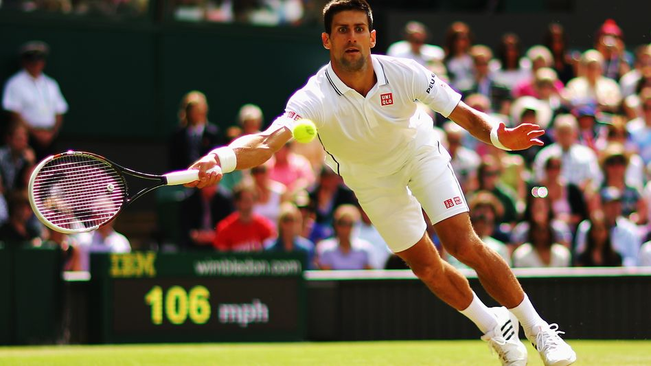 Tennisprofi Djokovic: Mühelos im Achtelfinale