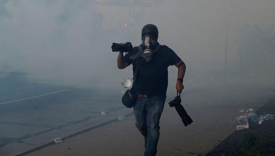Fotograf bei Protesten in Minnesota: Mehrere Journalisten wurden mit Tränengas beschossen
