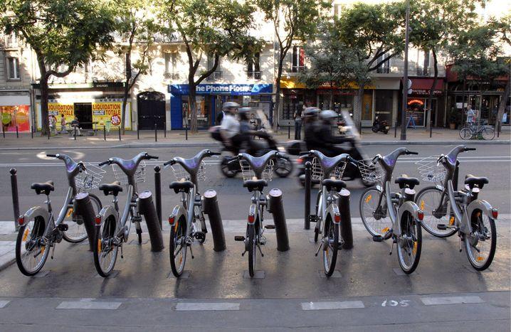 Erfolgreich etabliertes Fahrradleihsystem in Paris