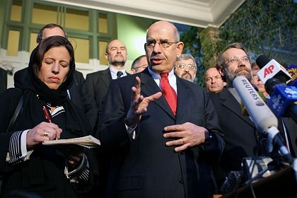 """Mohamed ElBaradei, head of the International Atomic Energy Agency: """"The world is at a turning point."""""""