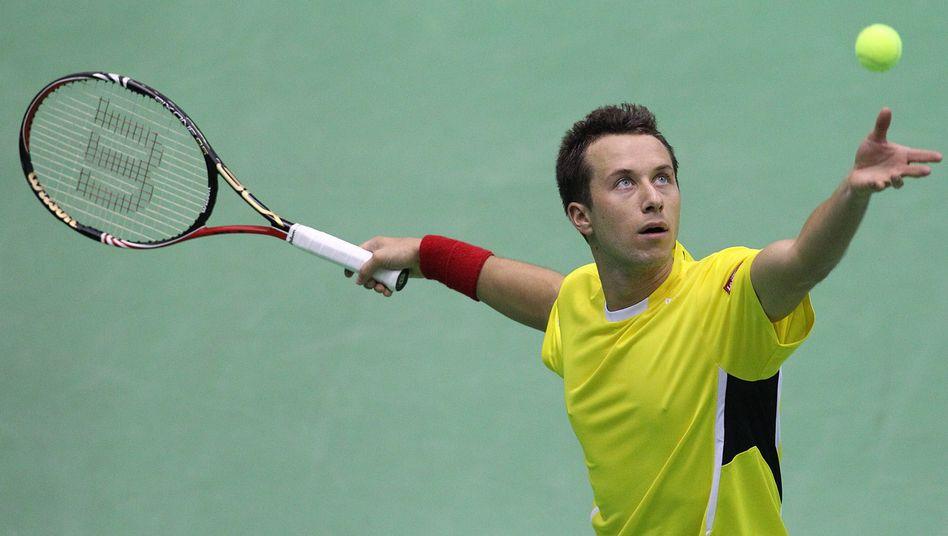 Tennisprofi Kohlschreiber: Ausgleich gegen Kroatien im Davis Cup