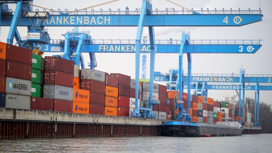Containerterminal in Mainz (Archivbild)